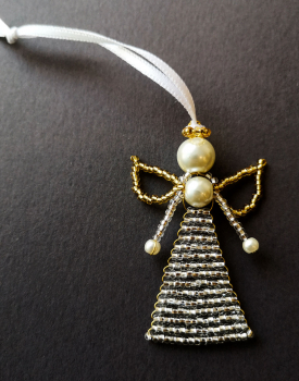 Pērļu eņģelītis - dzidri balts